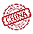 Made in China red graphic Round rubber vector image vector image