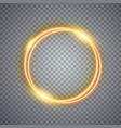 magic gold circle light effect vector image
