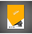 modern annual report abstract design template vector image