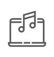 music line icon editable stroke 48x48 vector image vector image