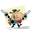 Outlaw Cowboy With Two GunsBackground vector image vector image