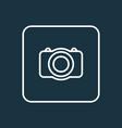 photo camera outline symbol premium quality vector image vector image