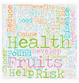 Phytochemicals and Good Health text background vector image vector image