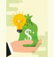 saving money business vector image vector image