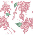 seamless pattern with hand drawn pastel fuchsia vector image vector image