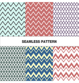 Seamless pattern with zigzag vector image vector image