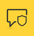 secure chat concept chat bubbles with shield vector image vector image