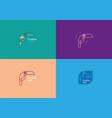 set creative geometric contour logo large toucan vector image vector image
