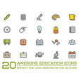 Set of Education Icons can be used as Logo or Icon vector image vector image