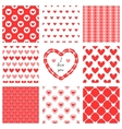Set of hand-drawn textures heart shapes and vector image vector image