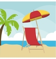 Summer design palm tree and chair icon graphic vector image vector image