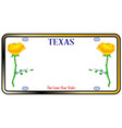 texas yellow rose license plate vector image vector image