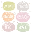 thanks labels vector image