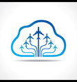 Tour and Tourism icon with cloud vector image vector image
