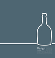 Web template logo of bottle wine in minimal flat vector image