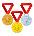 winners medals vector image vector image