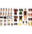 football set for animation vector image