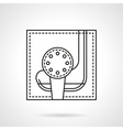 Golf tournament flat line icon vector image