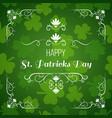saint patrick s day greeting card design vector image