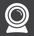 webcam solid icon device and camera vector image