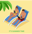 it s summer time summer party concept fun party vector image