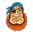 Pirate with red beard vector image