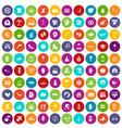 100 joy icons set color vector image vector image