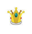 a isolated cartoon golden crown vector image vector image