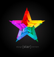Abstract star Overlying star shapes on black vector image