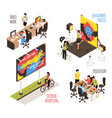 advertising agency design set vector image vector image