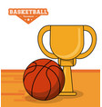 basketball sport trophy ball design vector image vector image