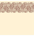Beige background with horizontal seamless border vector image vector image
