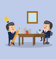 business teamwork with ideas vector image vector image