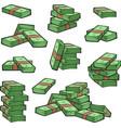 cartoon money stock set vector image
