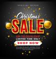 christmas sale design with ornamental ball and vector image