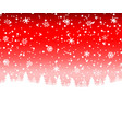 christmas snow forest with christmas trees and vector image