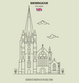 church st martin in the bull ring in birmingham vector image vector image