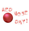 clown red nose day banner vector image