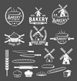 collection vintage retro bakery logo badges and vector image