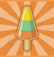 cone shaped sorbet stick vector image vector image