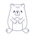 cute little teddy bear animal cartoon isolated vector image vector image