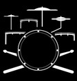 drum kit music instrument vector image vector image