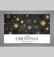 elegant christmas background with gold shining vector image