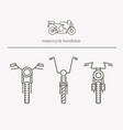 equipment for transport driving logo set vector image