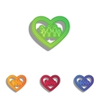 Family sign in heart shape Colorfull vector image vector image
