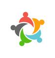 five business teamwork people logo design vector image vector image