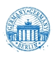 Germany logo design template Shabby stamp vector image vector image