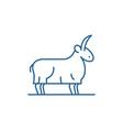 goat line icon concept goat flat symbol vector image vector image