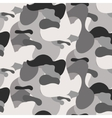 Gray camouflage seamless pattern vector image vector image