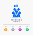 group business meeting people team 5 color glyph vector image